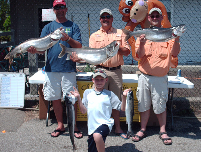 Originator fishing charter come fish steelhead on the for Michigan fishing charters