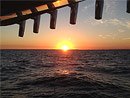 See the sun rise from Lake Michigan aboard the Originator Charte