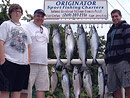 Catch Big Salmon aboard Originator Charters